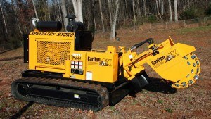 large remote stump grinder pic